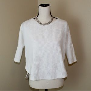 5/$25 SALE Anthropology Deletta white top